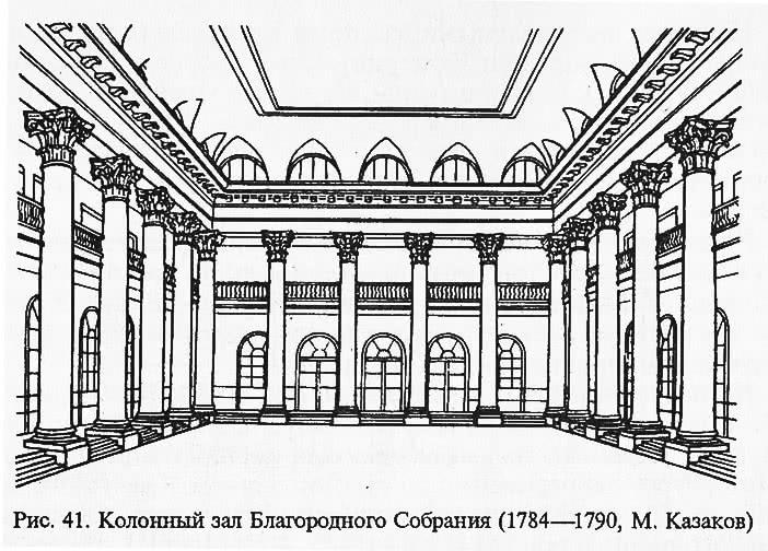 Рис. 41. Колонный зал Благородного Собрания