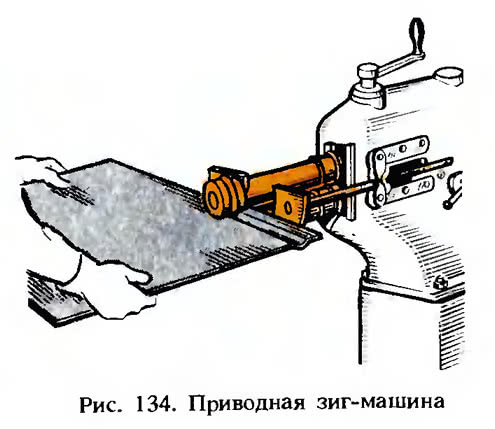 Рис. 134. Приводная зиг-машина