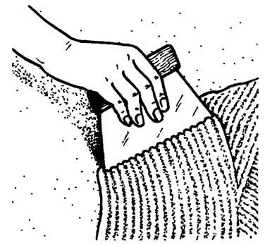 Нанесение тонкого слоя клея