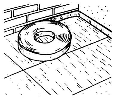 Прокладка изолирующей полосы в уровень стяжки