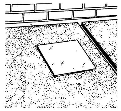 Удаление реек и заполнение канавок раствором