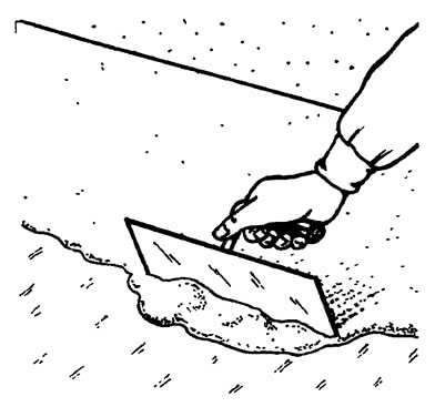 Нанесение клея на плиты 1-го слоя