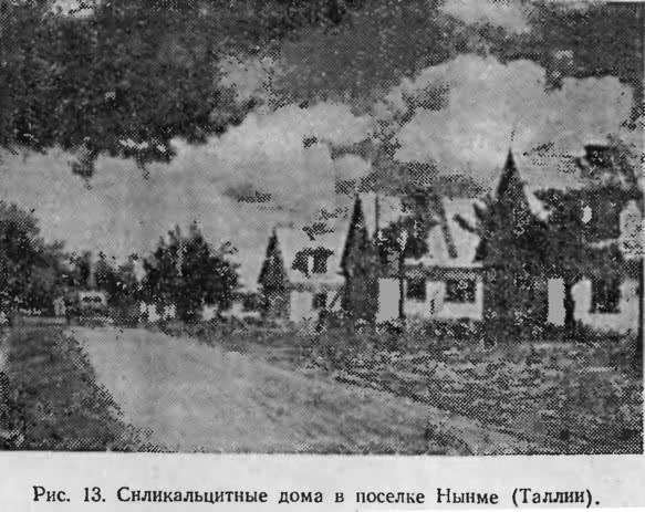 Рис. 13. Силикальцитные дома в поселке Нынме (Таллин)