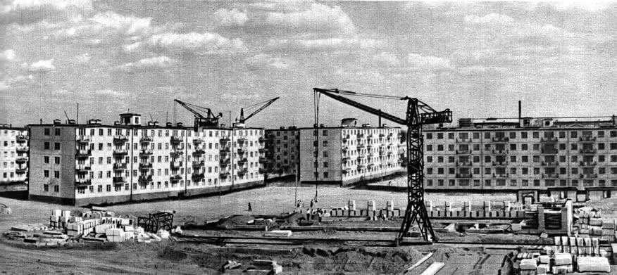 Панорама жилищного строительства в районе Волгоградской улицы. 1963 г.