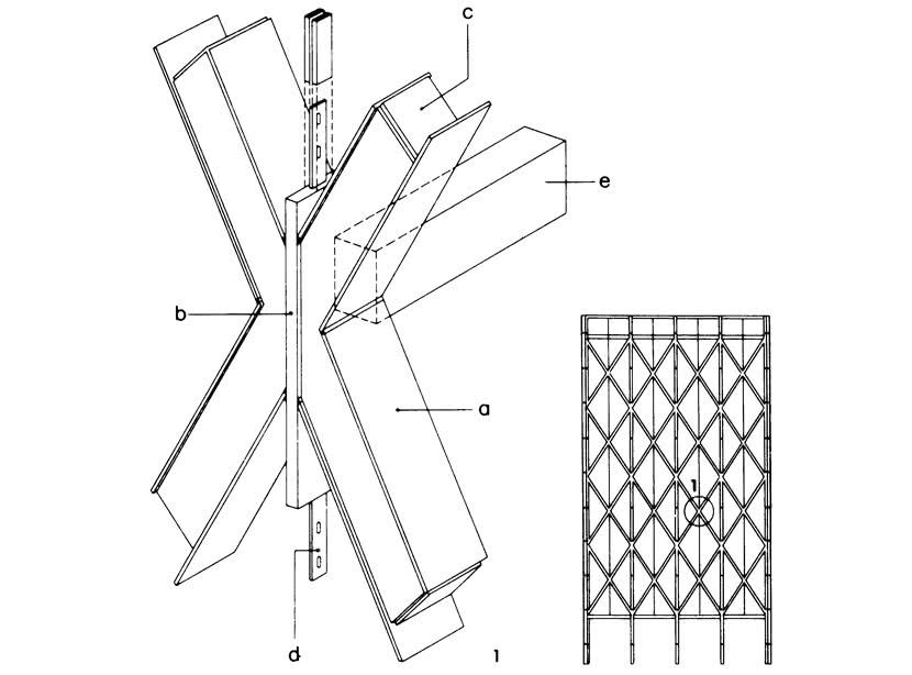 Расположенные перед фасадом вертикальные связи