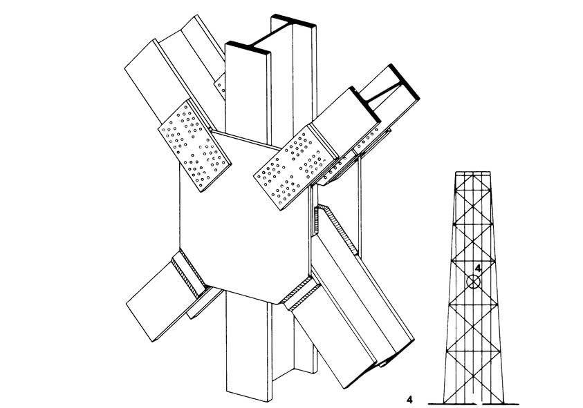 Главный узел вертикального фахверка