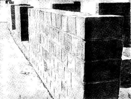 Рис. 13. Фрагмент стены жилого дома из грунтосиликатных блоков