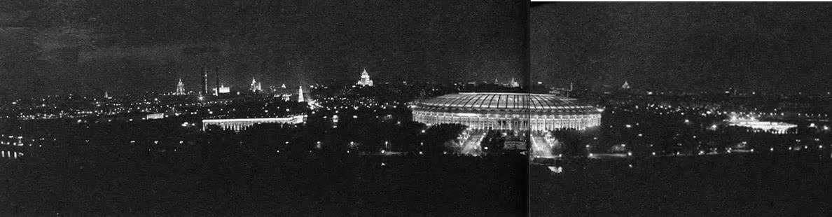 Светопанорама Москвы с Воробьевых гор