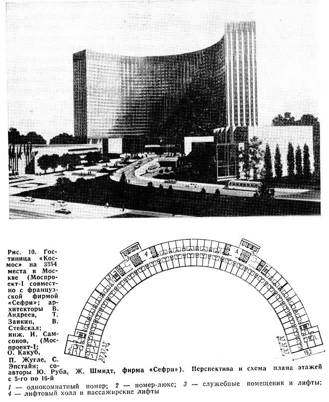 Рис. 10. Гостиница «Космос» на на 3354 места в Москве