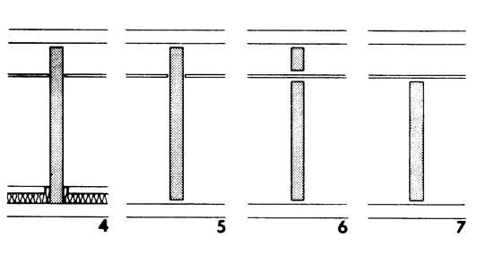 Рисунки 4-7. Примыкание перегородок