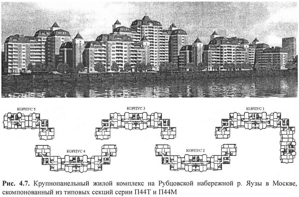 Рис. 4.7. Крупнопанельный жилой комплекс на Рубцовской набережной
