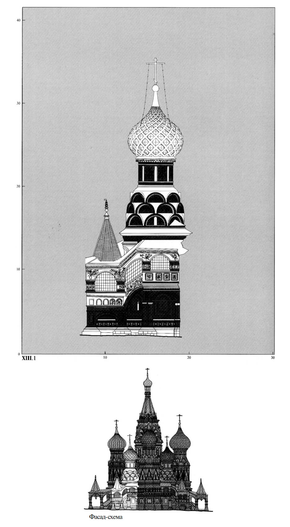 Фасад-схема северо-западного малого придела