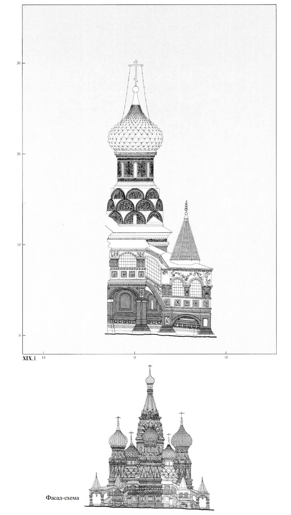 Фасад-схема юго-западного малого придела Варлаамия Хутынского