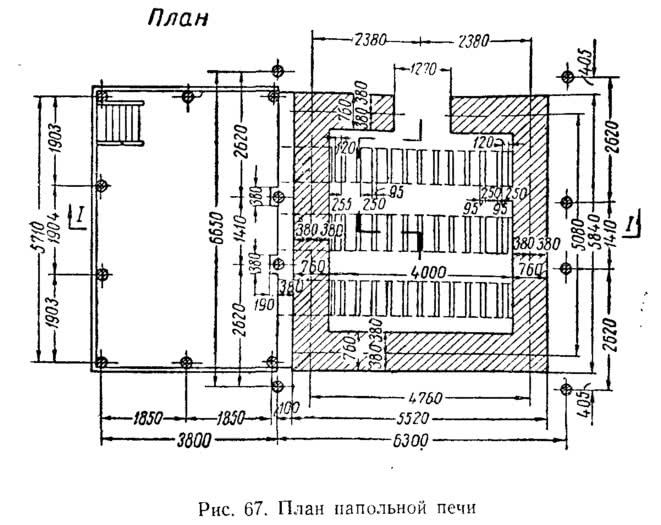 Рис. 67. План напольной печи
