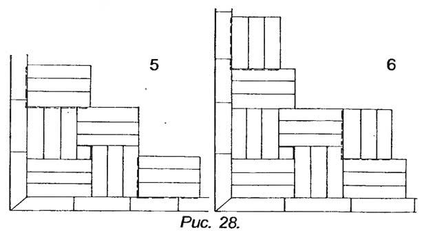 Рис. 28. Как начинать соседние квадраты