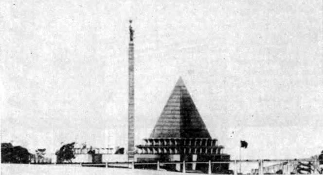 Павильон СССР на Международной выставке в Брюсселе. Конкурсный проект 1958 г.