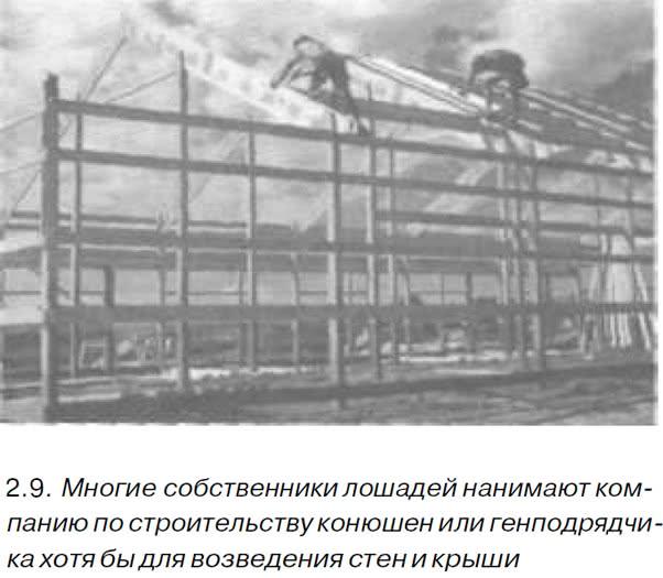 2.9. Многие собственники лошадей нанимают компанию по строительству конюшен