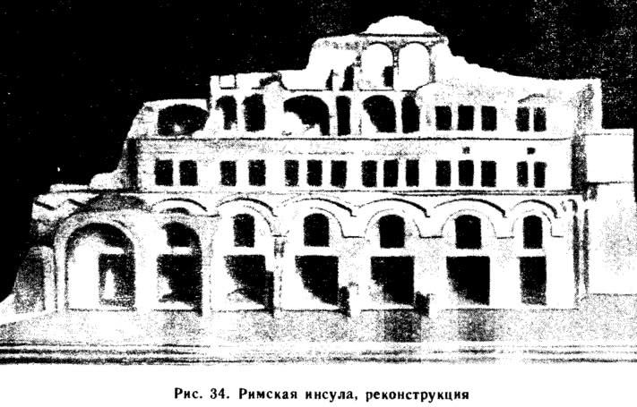 Рис. 34. Римская инсула, реконструкция