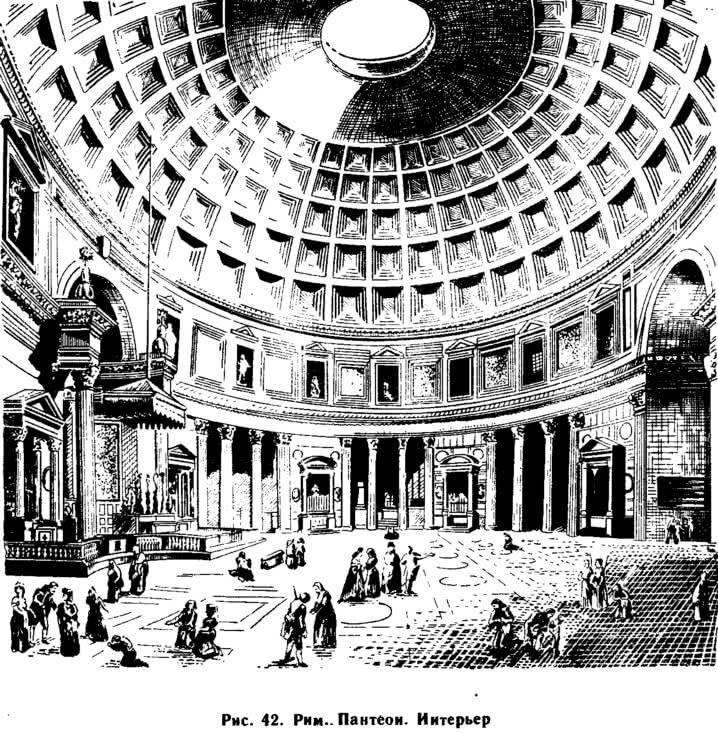 Рис. 42. Рим. Пантеон. Интерьер
