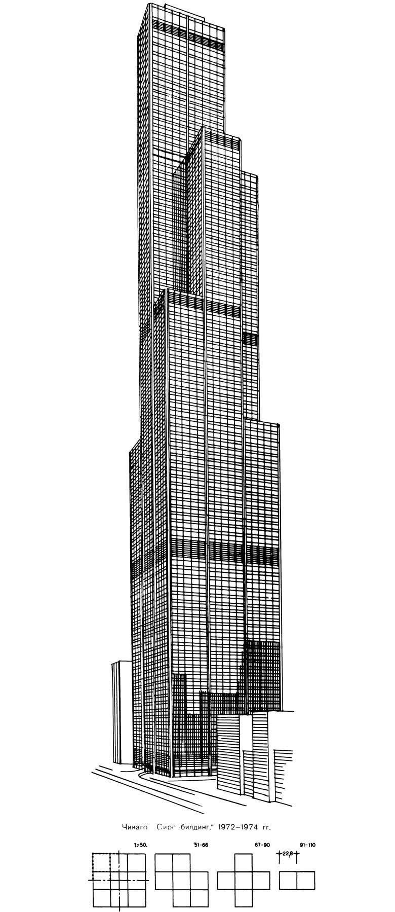 Чикаго. Сирс-билдинг, 1972-1974 гг.