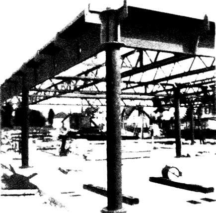 Угловая колонна со сплошностенчатыми рандбалками
