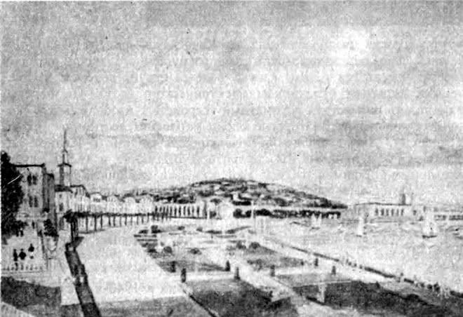 Ялта. Реконструкция центра города. Панорама с набережной. Эскиз