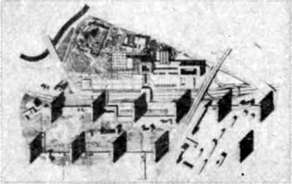 Ульяновск. Реконструкция центра города. Конкурсный проект 1965 г. Генеральный план