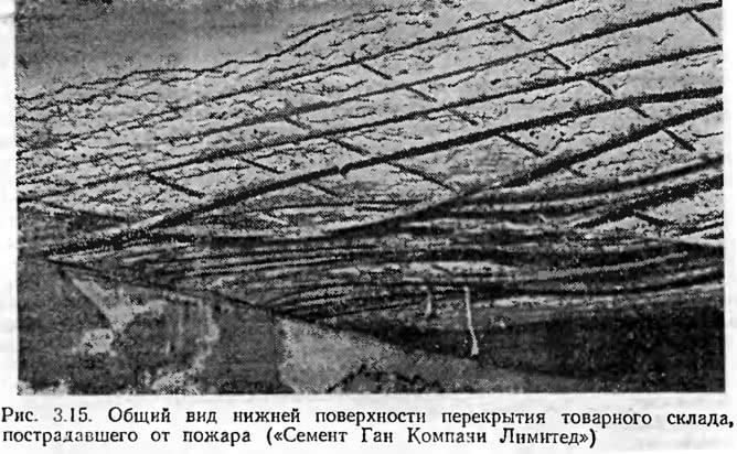 Рис. 3.15. Общий вид нижней поверхности перекрытия товарного склада