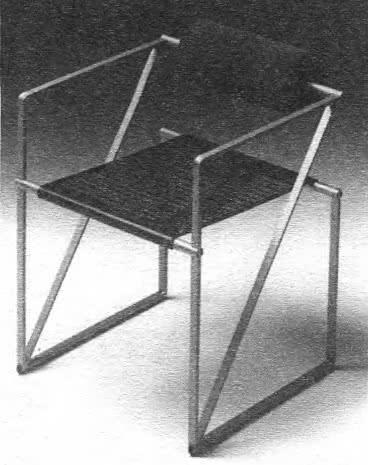 Кресло Секунда. Перфорированный стальной лист, полиуретан. М. Вотта, Италия, 1982