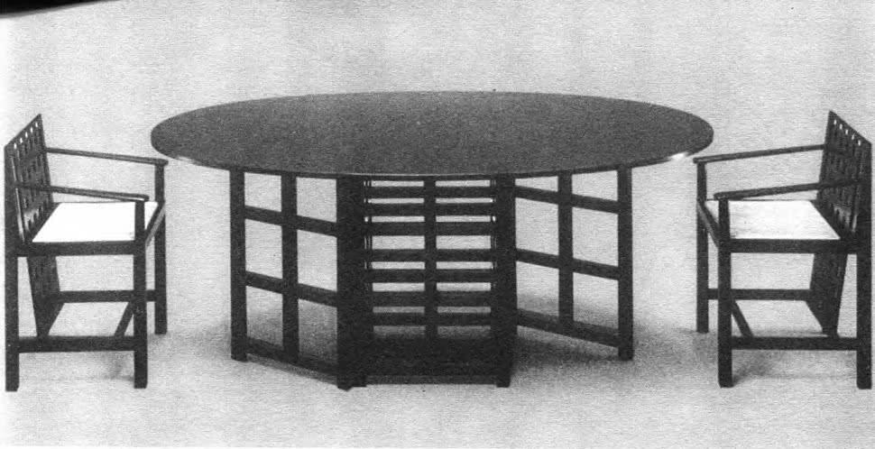 Гарнитур для столовой. Ч. Макинтош, Англия, 1918