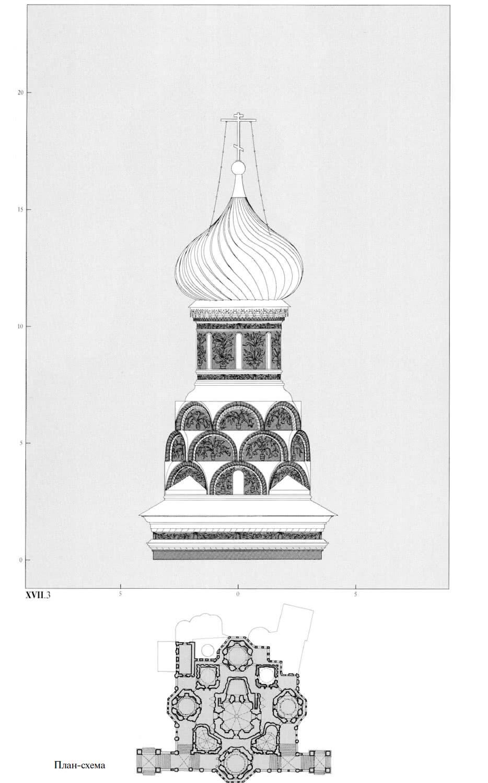 План-схема придела Александра Свирского