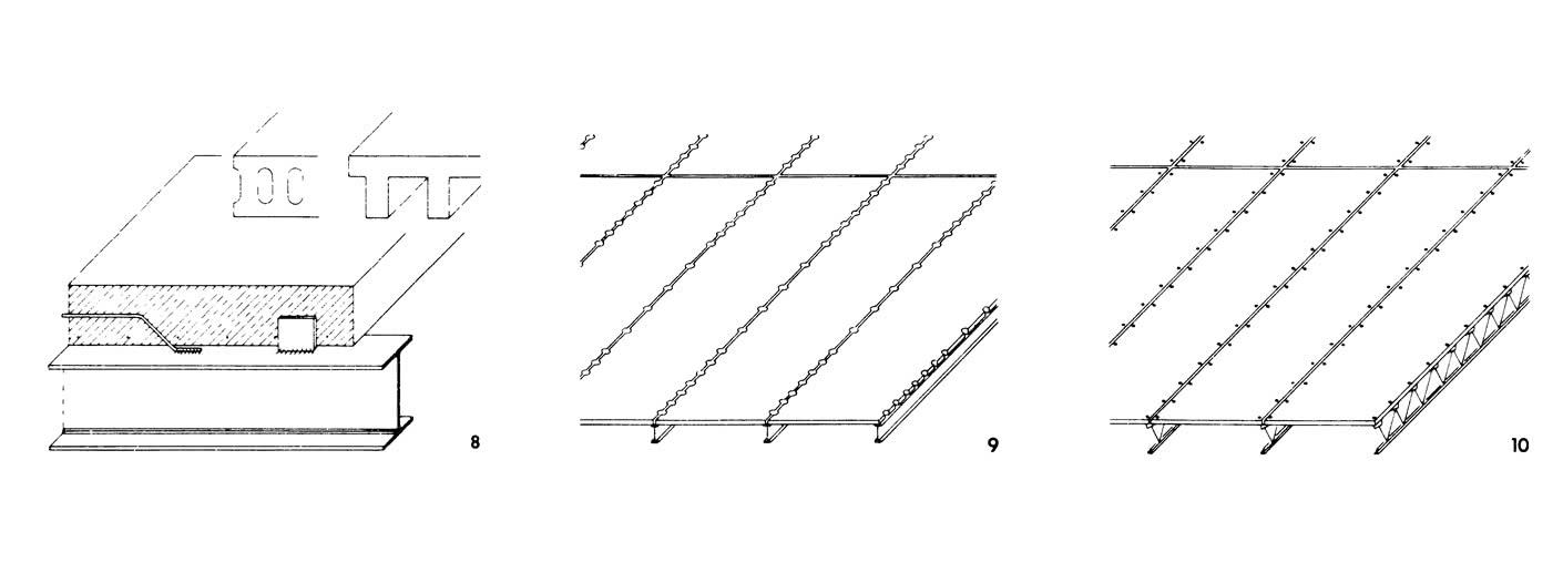 Рисунки 8-10.Плиты из сборных железобетонных элементов