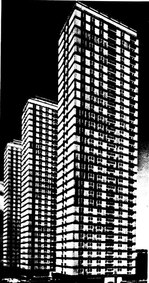 Общий вид трех башен