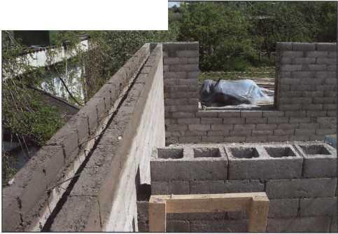 Возведение стены