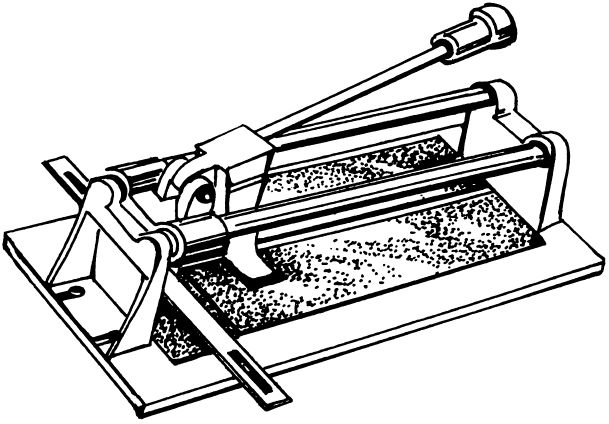 Рисунок 1. Ручной плиткорез