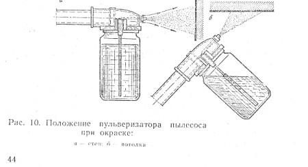 9.Окрашивание пульверизатором пылесоса