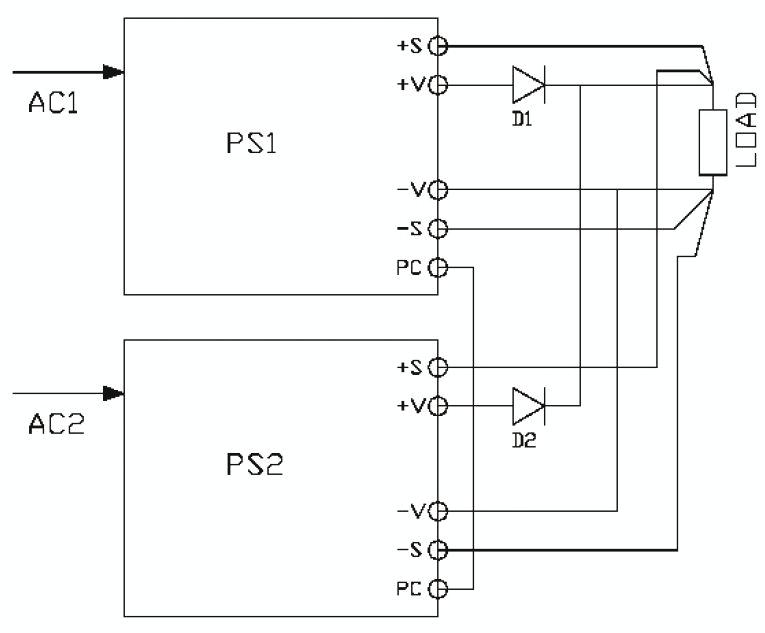 Защита источников с распределением тока