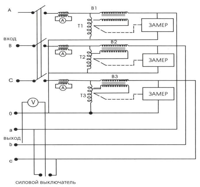 2.6.3. Схема подключения трехфазного стабилизатора