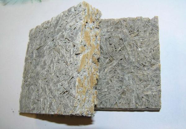 Рис.3.2. Отрезок щепоцементной плиты