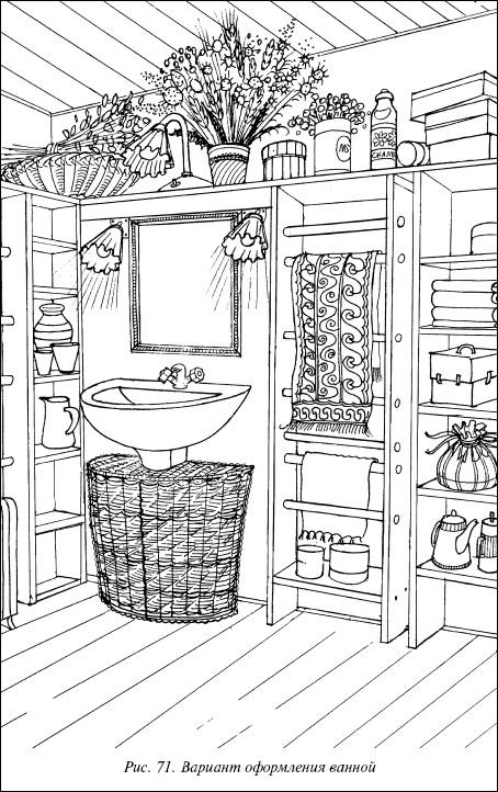 Рис.71. Вариант оформления ванной