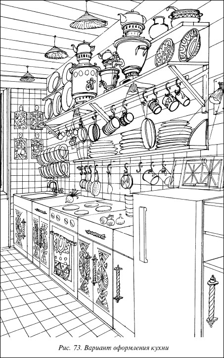 Рис.73. Вариант оформления кухни