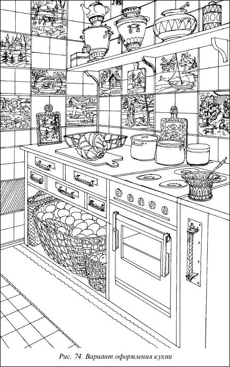 Рис.74. Вариант оформления кухни