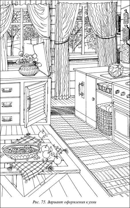 Рис.75. Вариант оформления кухни