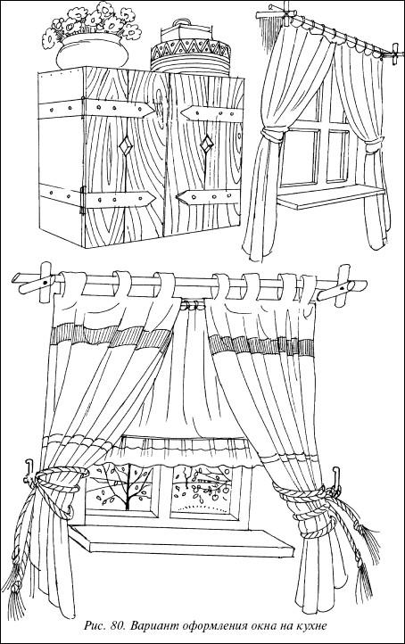 Рис.80. Вариант оформления окна на кухне