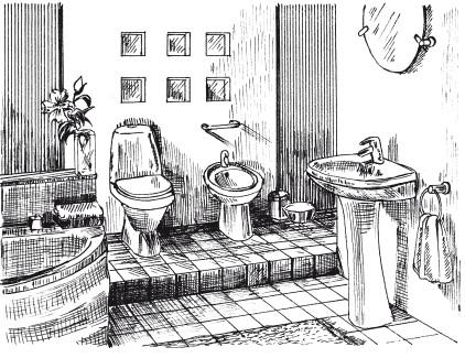 Рис.6. Подиум в ванной комнате