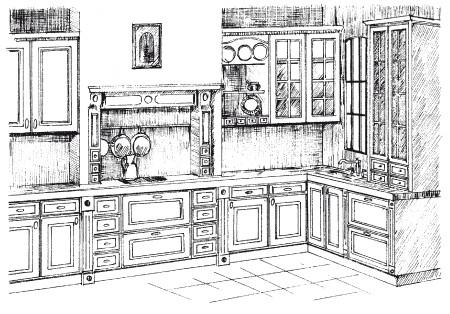 Рис.11. Кухня в английском стиле