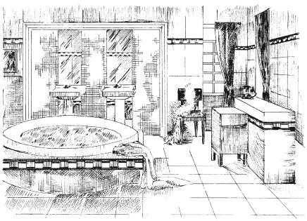 Рис.13. Ванная комната в стиле арт-деко
