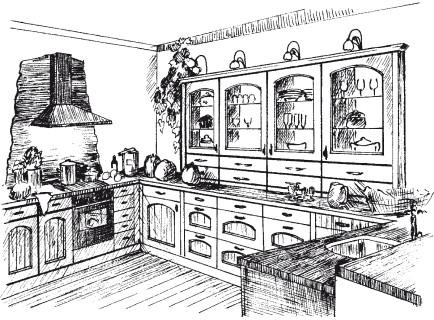 Рис.14. Кухня в стиле кантри
