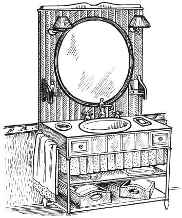 Рис.15. Ванная в стиле кантри