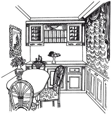 Рис.16. Кухня в классическом стиле